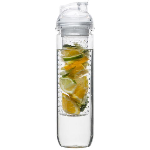 Sagaform Fresh Bottle With Fruit Piston - Clear