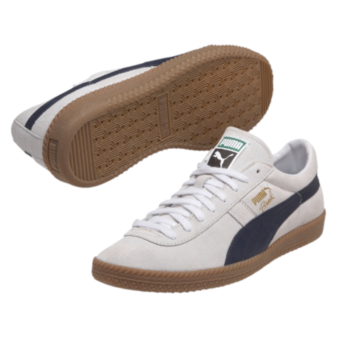 Puma Men's Brasil Football Vintage Trainers - Peacoat/White