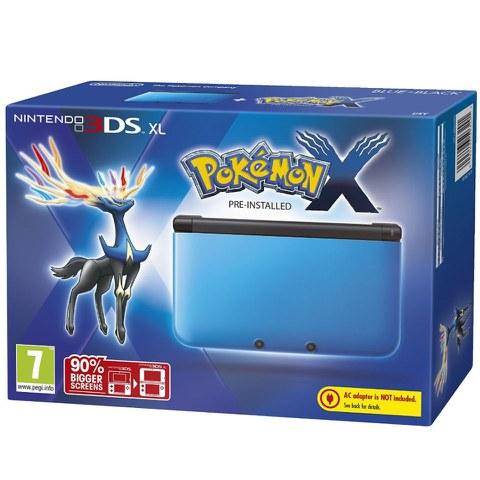 Nintendo 3DS XL Blue and Black Console - Includes Pokemon X
