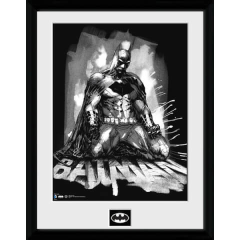 DC Comics Batman Comic Paint - Framed Photographic - 16 x 12inch