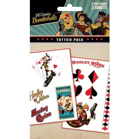 Planche de Tatouages Harley Quinn Bombshell Batman - DC Comics