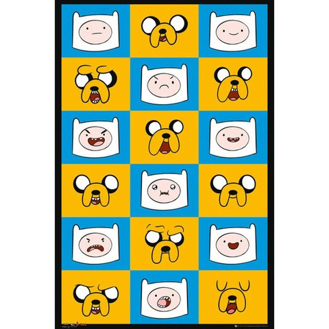 Adventure Time Expressions Maxi Poster - 61 x 91.5cm