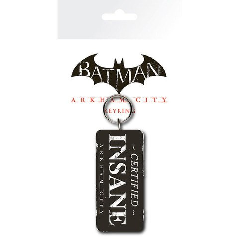 DC Comics Batman Arkham City Certified Insane - Keyring