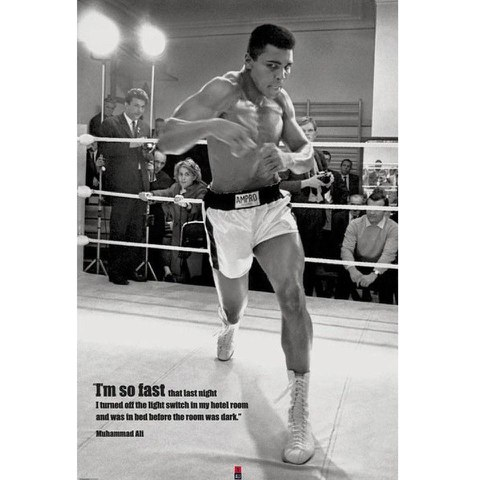 Muhammad Ali Fast - 24 x 36 Inches Maxi Poster