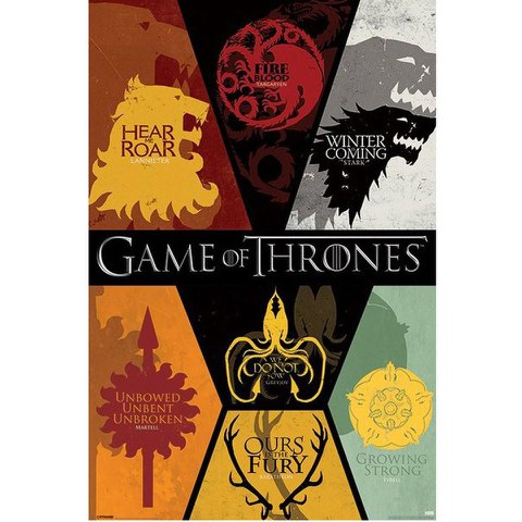 Game Of Thrones Sigils - 24 x 36 Inches Maxi Poster