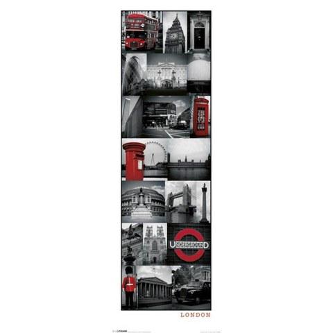 London Collage - 12 x 36 Inches Midi Poster