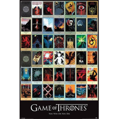 Game Of Thrones Episodes - 24 x 36 Inches Maxi Poster