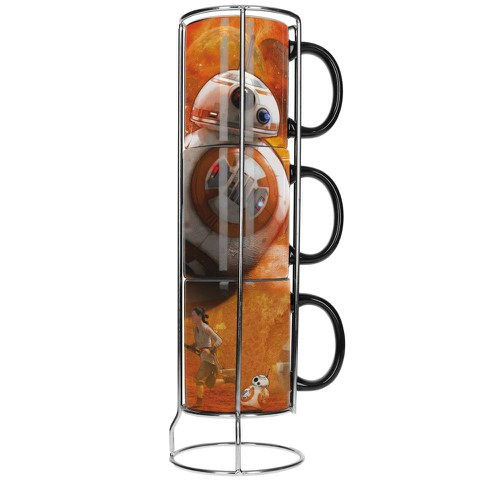 Lot De 3 Tasses Empilables BB-8 -Star Wars Épisode Vii