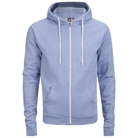 Soul Star Men's Berkley Zip Through Hoody - Sky Melange