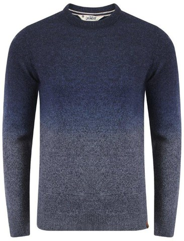 Pull Tokyo Laundry pour Homme Saw Space Dye -Marine