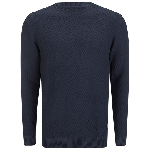 Jack & Jones Men's Jet Knitted Jumper - Navy Blazer