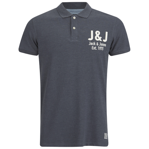 Jack & Jones Men's Moss Polo Shirt - Navy Blazer