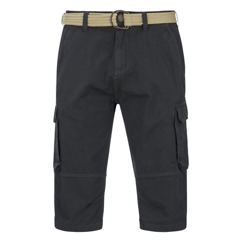 Brave Soul Men's Radical Belted Cargo Shorts - Charcoal
