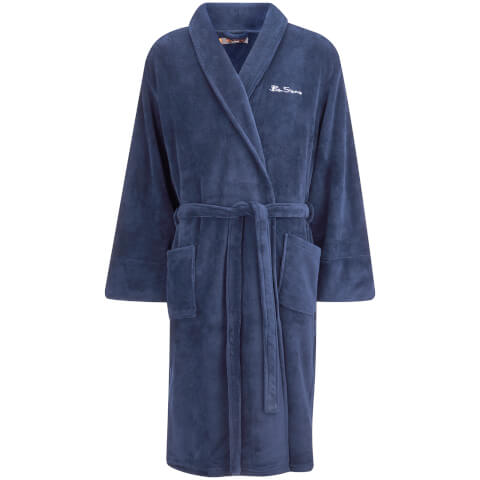 Ben Sherman Men's Fleece Robe - Navy