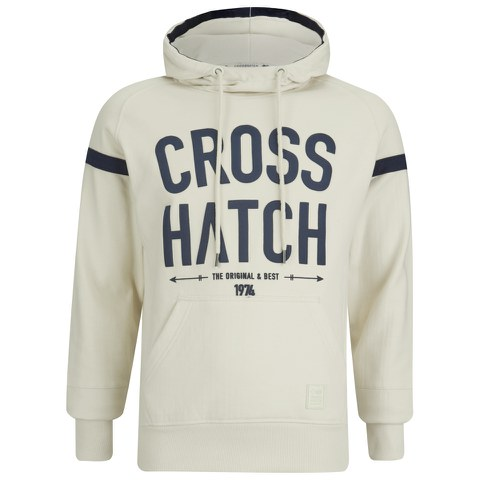 Crosshatch Men's Chassis Print Hoody - Vaporous Grey