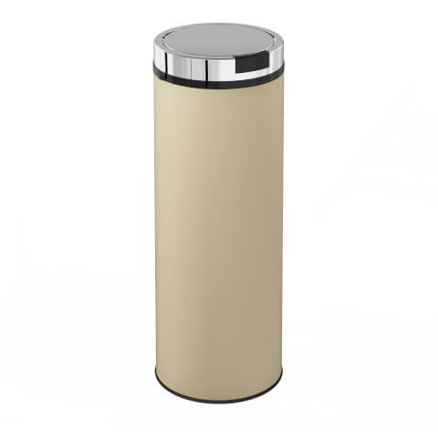 Morphy Richards 974143 Round Sensor Bin - Cream - 50L