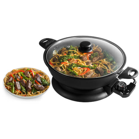 Elgento E14018N Electric Wok - Black