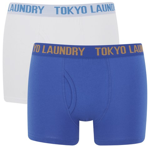 Tokyo Laundry Men's 2-Pack Concord Boxers - Ocean/Optic White