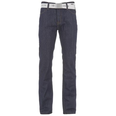 Smith & Jones Men's Farrier Belted Denim Jeans - Dark Wash