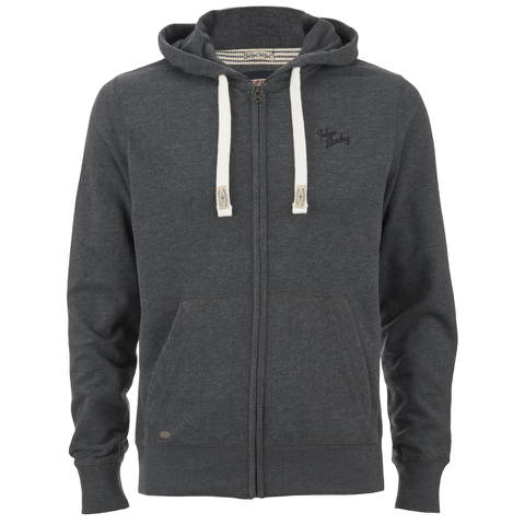 Tokyo Laundry Men's Cobble Hill Zip Through Hoody - Charcoal Marl