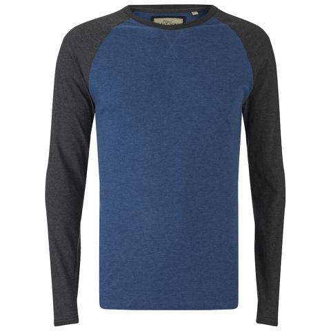 Camiseta manga larga Brave Soul Osbourne - Hombre - Azul vintage