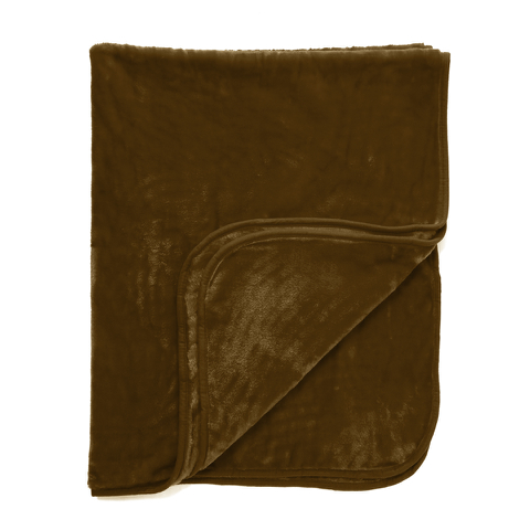 Dreamscene Luxurious Faux Fur Throw - Chocolate