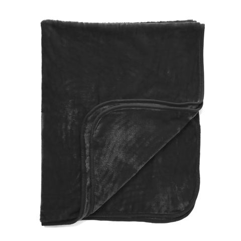 Dreamscene Luxurious Faux Fur Throw - Black