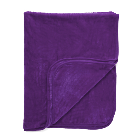 Dreamscene Luxurious Faux Fur Throw - Grape