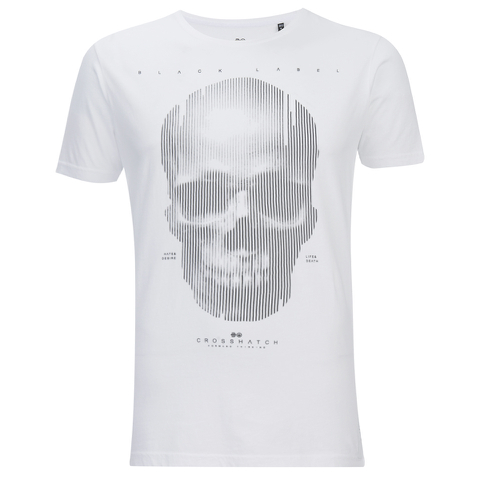 Crosshatch Herren Cerebrum T-Shirt - White