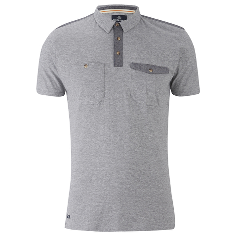 Threadbare Men's Harrisburg Coded Polo Shirt - Grey