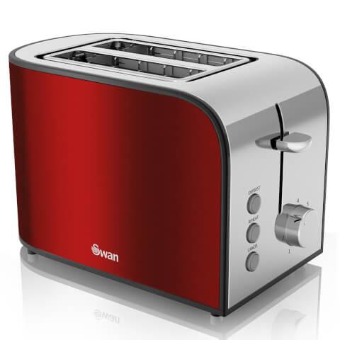 Swan ST17020RedN 2 Slice Toaster - Red