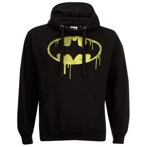 DC Comics Mens Batman Dripping Logo Hoody - Zwart