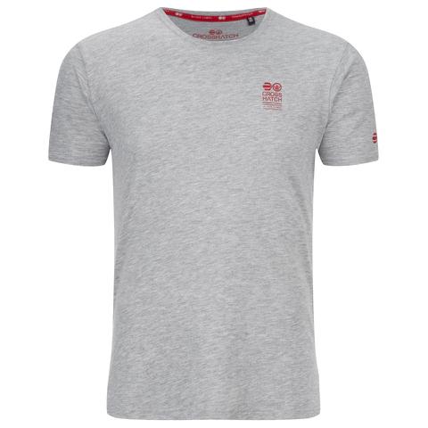 Crosshatch Men's Atlantic Back Print T-Shirt - Grey Marl