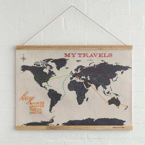 Carte du Monde - Édition à Broder