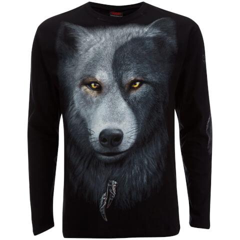 T-Shirt Homme Spiral Wolf Chi -Noir