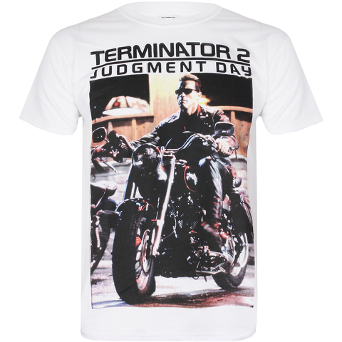 Terminator 2 Men's I Need Your Motor Cycle T-Shirt - White