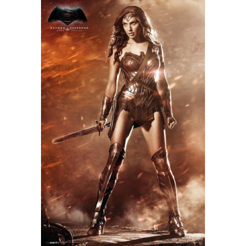 DC Comics Batman v Superman Dawn of Justice Wonder Woman - 24 x 36 Inches Maxi Poster