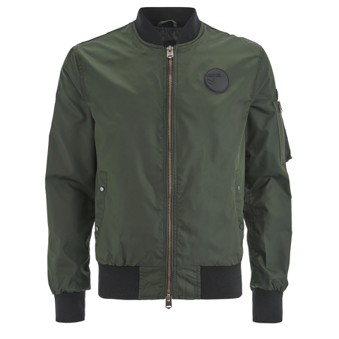 4Bidden Men's Radar Bomber Jacket - Khaki