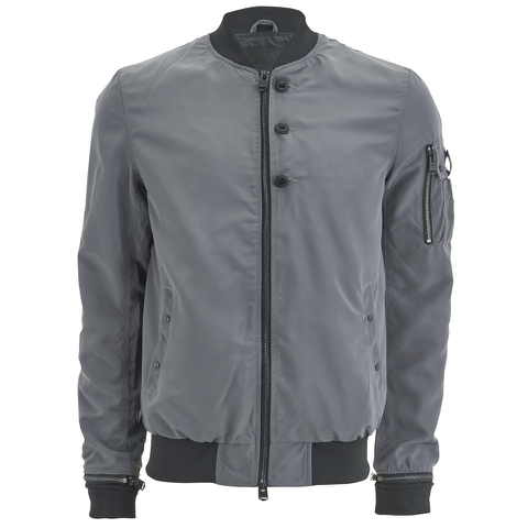 4Bidden Men's Action Bomber Jacket - Grey