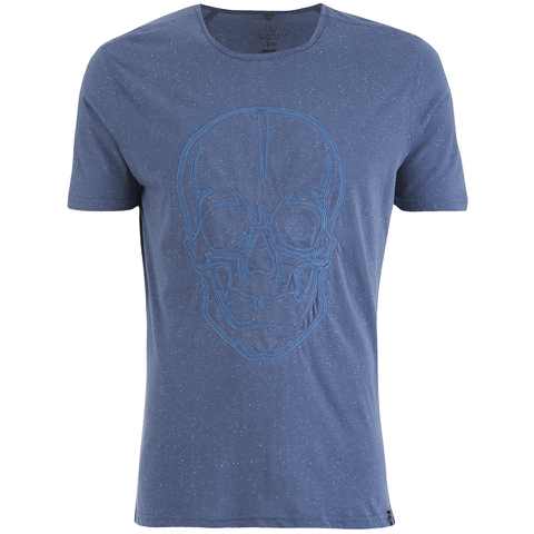 Smith & Jones Men's Diastyle Skull T-Shirt - Moonlight Blue Nep