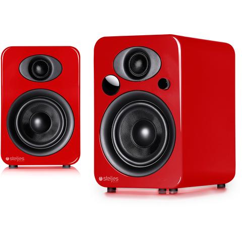 Steljes Audio NS3 Bluetooth Duo Speakers - Vermilion Red