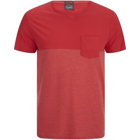 Jack & Jones Herren Originals Tobe 2 Tone T-Shirt - Rot