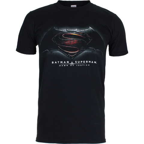DC Comics Men's Batman v Superman Men's Dawn of Justice T-Shirt - Black