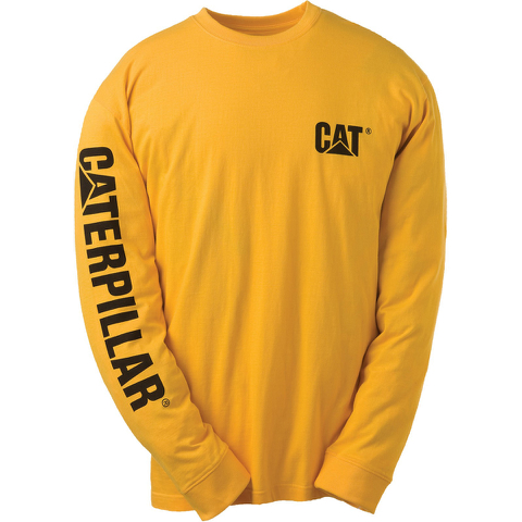 Caterpillar Men's Trademark Long Sleeve T-Shirt - Yellow