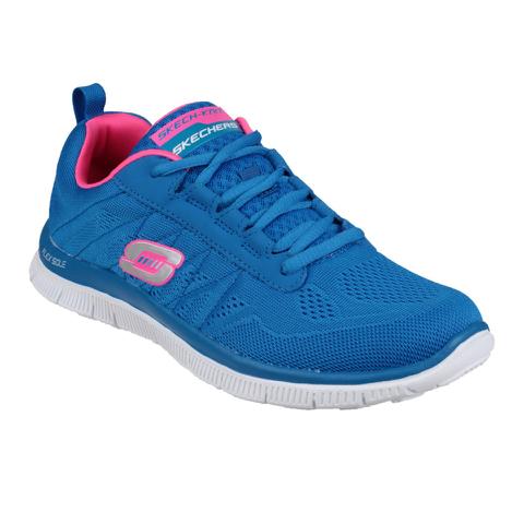 Skechers Women's Flex Appeal Sweet Spot Low Top Trainers - Blue