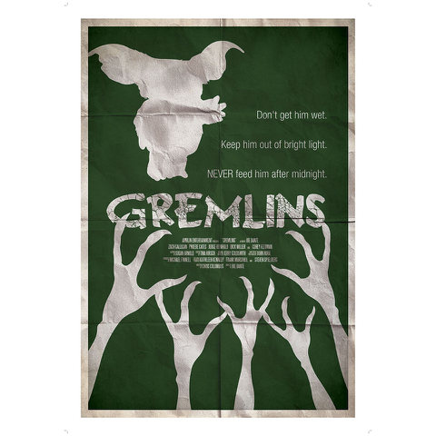 Gremlins Inspired Illustrative Art Print - 11.7 x 16.5 Inches