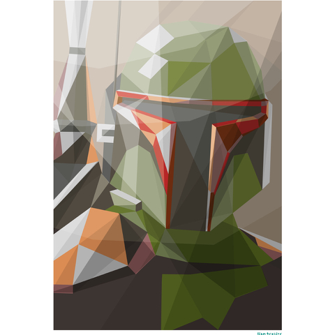 Affiche Géométrique Star Wars Bounty Hunter -Fine Art