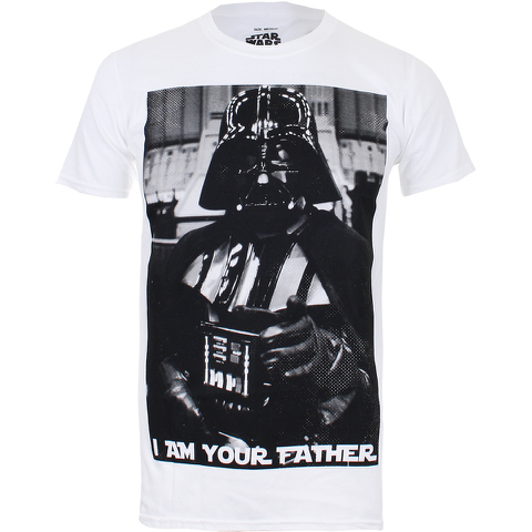 Star Wars Vader Father Photo Heren T-Shirt - Wit