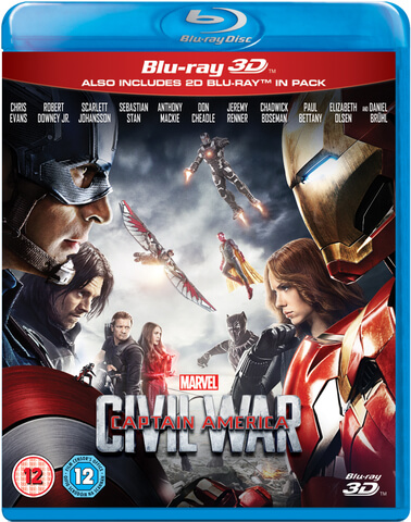 Captain America: Civil War 3D (Includes 2D Version)