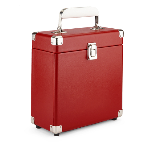 GPO Retro Portable Carry Case for 7-Inch Vinyl Records - Red